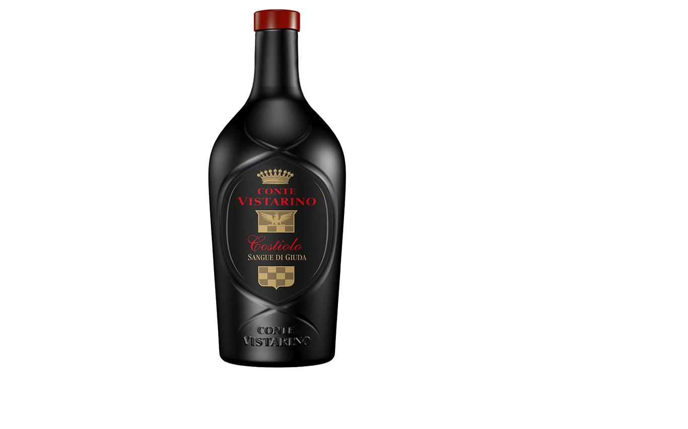 Sangue di Giuda, vino tinto italiano, espumoso a traves de la doble fermentación. Tiene un carácter afrutado y fresco sin olvidar su suave toque dulzón.