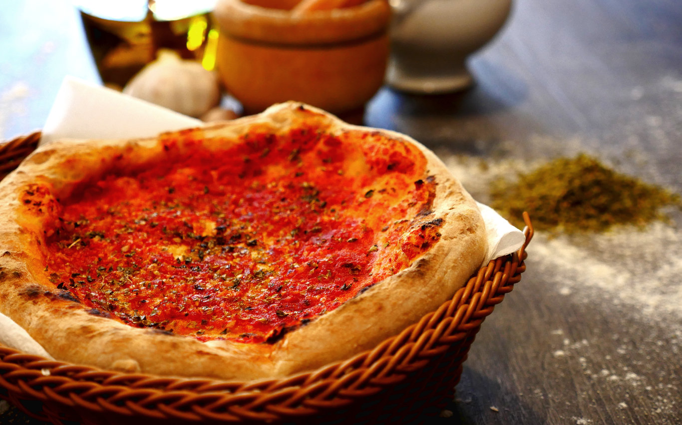 Pane della casa, Entrantes. Restaurante pizzeria Otro Mondo en Villaviciosa de Odón.